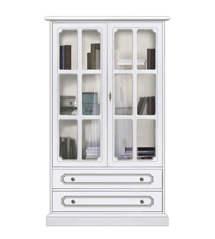 Detalles de Vitrina de estilo clásico, mueble vitrina de comedor, mueble  artesanal de salón