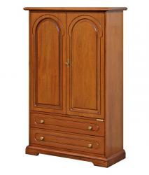 Armario de almacenaje en madera con puertas