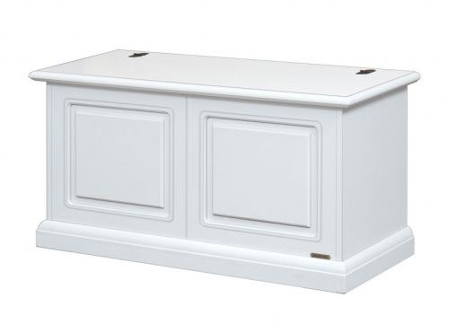 Caja de almacenaje laqueada blanca en madera