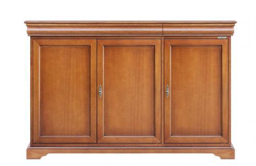 Aparador mueble estilo Luis Felipe 2 cajones compartimiento secreto
