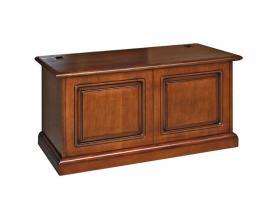Caja de almacenaje en madera estilo clásico pata abatible