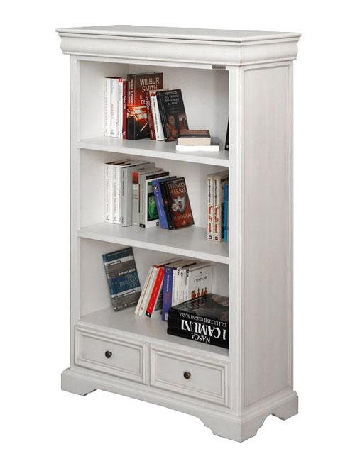 Librer a estilo luis felipe barnizada blanca prixdoo - Librerias salon blancas ...