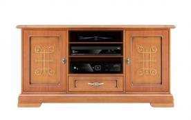 Mueble tv con frisos en madera anchura 130 cm