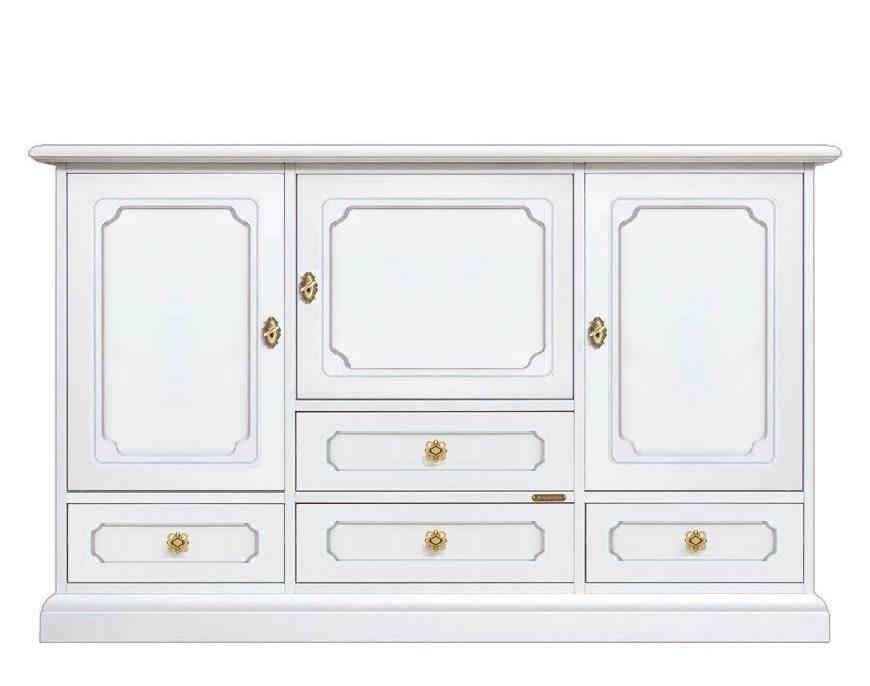 Mueble aparador blanco 4 cajones prixdoo - Mueble aparador blanco ...