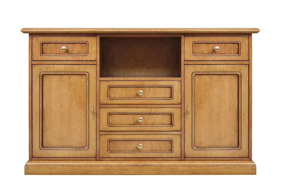 Mueble tv alto en madera para cocina aparador clásico