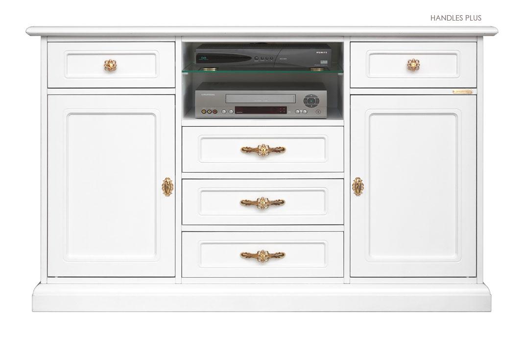 Mueble tv alto en madera para cocina aparador cl sico for Mueble alto cocina