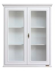 mueble vitrina de pared, vitrina 2 puertas, Arteferretto, mueble de pared, vitrina colgante, vitrina blanca, madera blanco
