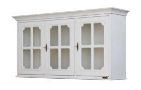 mueble vitrina con puertas, mueble artesanal, mueble de madera, vitrina colgante. mueble Arteferretto, vitrina estilo clásico