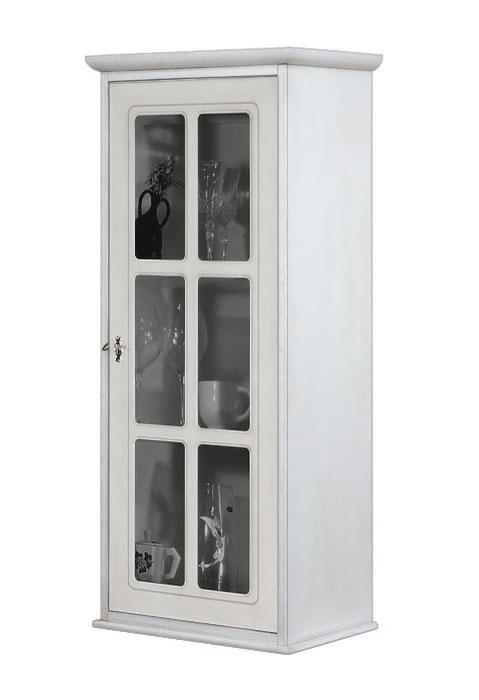 Vitrina de pared 1 puerta madera y vidrio prixdoo - Vitrinas empotradas en pared ...