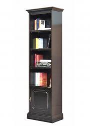 mueble librería, estantería, librería negra, estantería de oficina, mueble de color negro, mueble clásico, Arteferretto, made in Italy