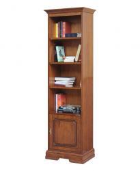 Librería estrecha 1 puerta, Librería estrecha, librería alta, librería de oficina, muebles italianos de estilo clásico