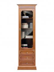 mueble vitrina, vitrina con cajones, mueble estantería, mueble Arteferretto, libreria estilo clásico
