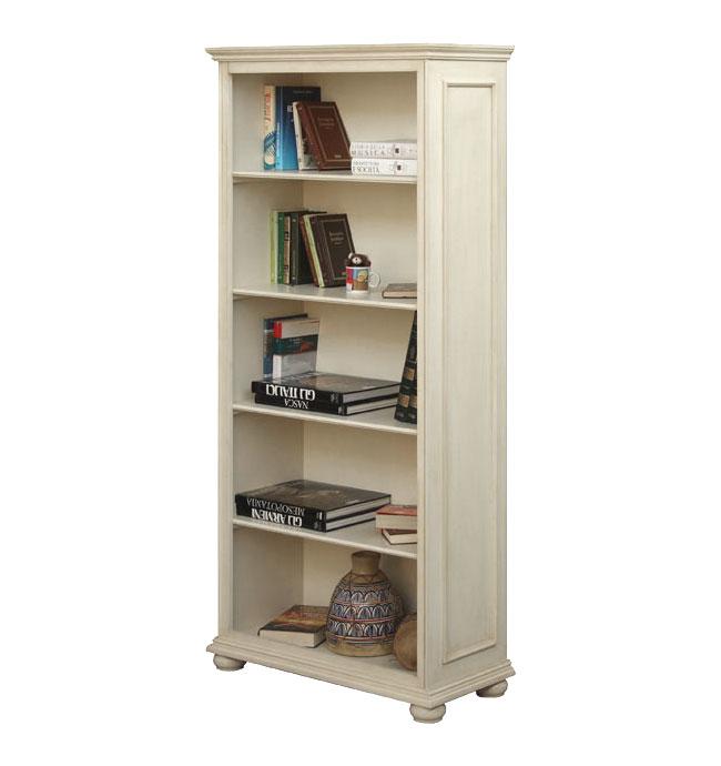 Libreria lacada con estantes fijos prixdoo - Estanteria blanca lacada ...