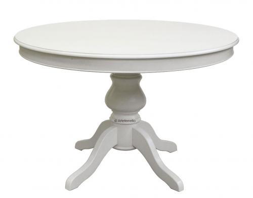 Mesa redonda con extensiones blanca