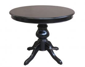 Mesa redonda negra extensible