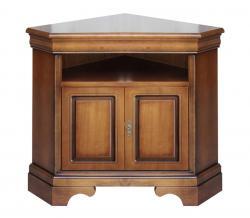 Mueble tv de esquina en madera vano y dos puertas