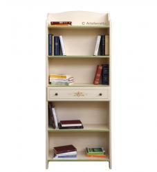 Librería decorada. Estantería