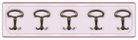 Perchero madera laqueada rosa 5 ganchos laqueado rosa