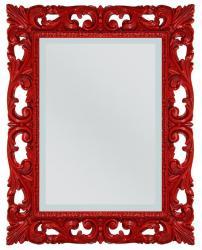 Espejo rojo de artesanado italiano