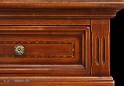 consola mesa auxiliar, mesa de recibidor, mesa recibidora, consola con marqueterias, consola estilo clásico, mesa auxiliar rectangular