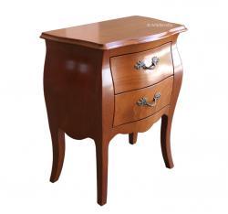 mesita de noche en madera de haya, mueble de dormitorio, mesita de noche estilo clásico