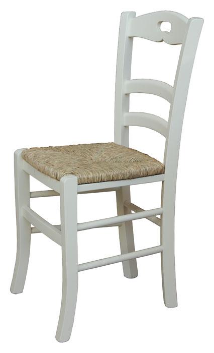 Silla con asiento en paja