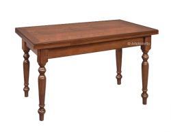 Mesa rectangular extensible en madera estilo clásico