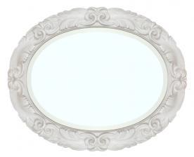 Espejo ovalado de madera Moonlight