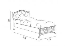 Cama individual con cabecera acolchada, cama, comprar cama, cama blanca, cama estilo clásico