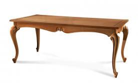Mesa rectangular estilo clásico patas moldeadas