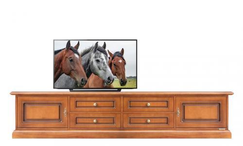 Mueble tv cajones puertas sin vanos abiertos