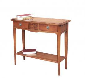 consola de madera, mesa consola, consola de recibidor, mueble clásico, Arteferretto, conssola rectangular, consola artesanal