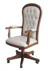 sillón giratorio respaldo capitone