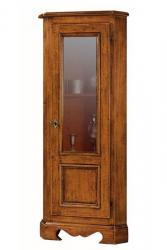 mueble vitrina, vitrina de esquina, vitrina clásica. vitrina cuarto de estar, mueble clásico, mueble de madera maciza
