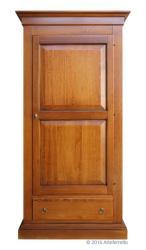 Armario arte pobre en madera maciza 1 puerta 1 cajon