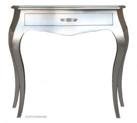 mesa consola de recibidor, mesa consola, consola de pan de plata, mueble de recibidor, consola de madera