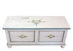 Caja de almacenaje laqueada decorada a mano por artesanos venecianos, Arteferretto