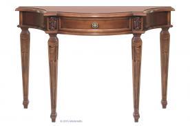 consola robusta, consola de madera, mesa consola, consola de recibidor, estilo clásico, mesa auxiliar