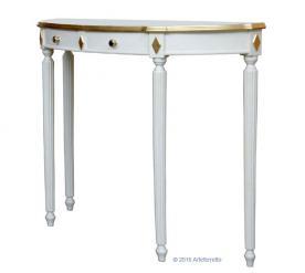 consola mesa auxiliar de recibidor, consola de madera lacada, consola estilo clásico, Arteferretto