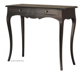 consola clásica, consola negra, consola de madera, mesa consola, consola de recibidor, Arteferretto