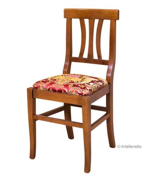 Silla con asiento acolchado