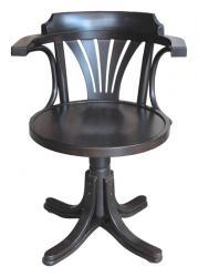 silla giratoria de madera, silla giratoria, silla de oficina, silla de madera, silla giratoria de estilo clásico, silla siento de madera
