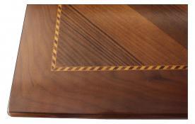 Mesa cuadrada extensible con marqueterías