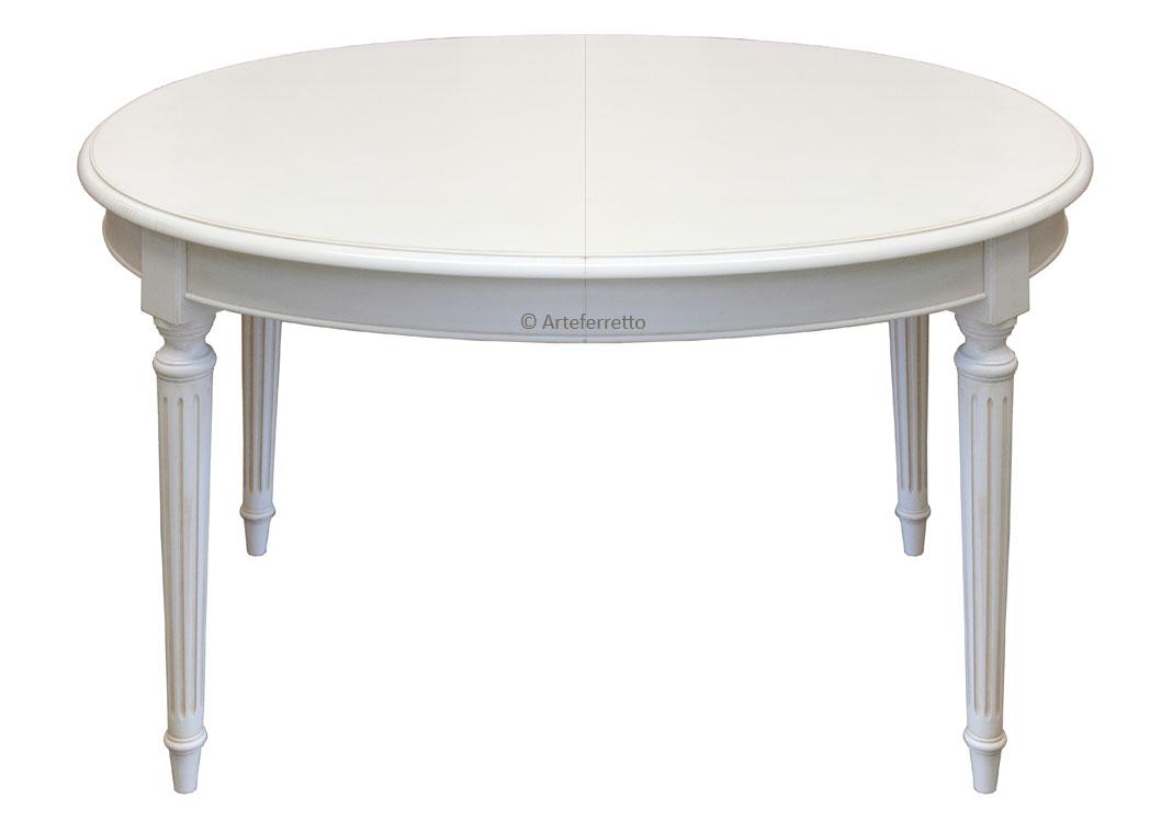 Mesa ovalada laqueada blanca elegante 103 210 cm prixdoo for Mesa comedor ovalada blanca