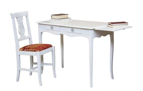 Mesa de despacho en madera dos cajones 110 cm,