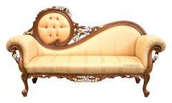 Sofa de madera lujo decoraciones oro y plata