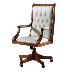 sillón ejecutivo, sillón giratorio, sillón de madera de haya, sillón acolchado,sillón clásico