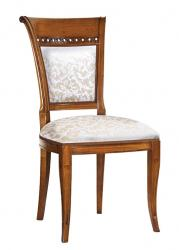 Silla respaldo acolchado y asiento tapizado