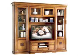 Mueble de pared modular mueble de tv en madera estilo clásico