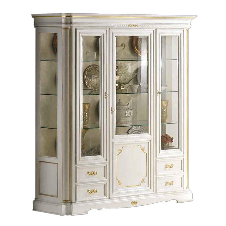 Mueble de sal n vitrina blanca y oro prixdoo - Mueble vitrina salon ...